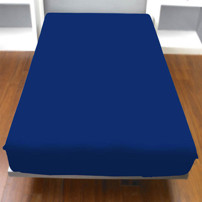 Yvonne-Collection加大純棉床包-藍
