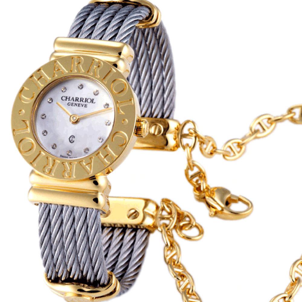 CHARRIOL 夏利豪鎖鍊錶-金色