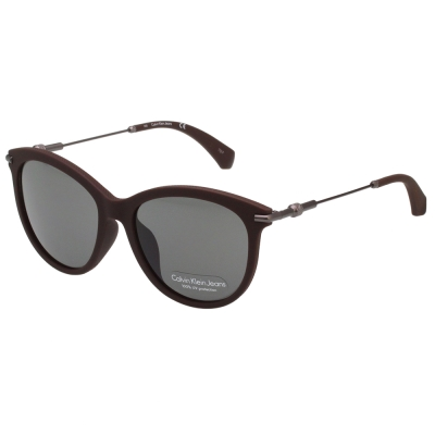 Calvin Klein- 小貓眼 太陽眼鏡(霧面咖啡)CKJ514SAF-256