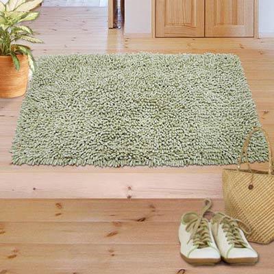 棉花田【米羅】純棉雪尼爾踏墊(50x80cm)-綠色