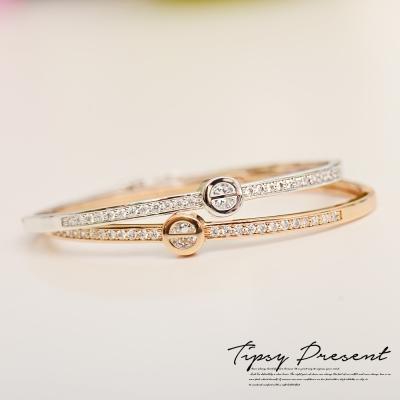 微醺禮物 鋯石 鍍18K金 璀璨回憶 手環 兩色