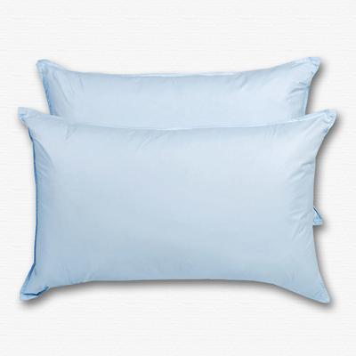 原色布屋 純淨天然羽絨枕 2入 水藍