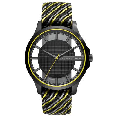 A│X Armani Exchange 時空遊者時尚都會鏤空手錶(AX2402)-47mm
