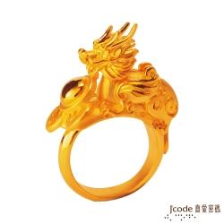 J'code真愛密碼 鴻運貔貅黃金戒指