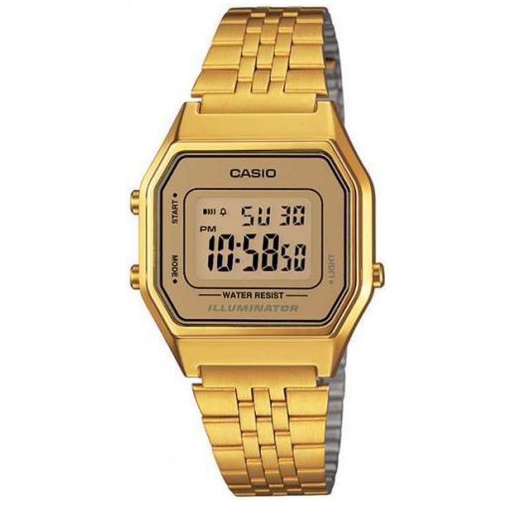 CASIO 經典復古數字型電子錶(LA680WGA-9)-金色/28.6mm