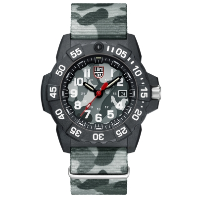 LUMINOX 雷明時NAVY SEAL 3500全新海豹2代系列腕錶-迷彩灰/45mm