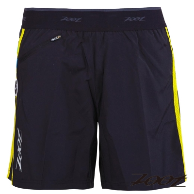 ZOOT頂級冰涼感二合一7吋輕肌能跑褲(男)(黑-尊爵黃)Z1504018-16