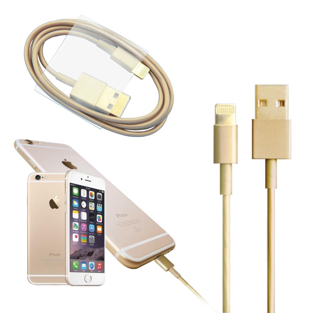 YHO iPHONE6 / 6 Plus土豪金充電傳輸線(最新版)[快]