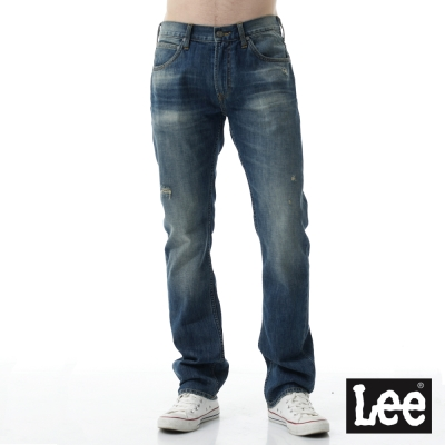 Lee 牛仔褲 724中腰標準合身直筒牛仔褲/RG -男款-深色