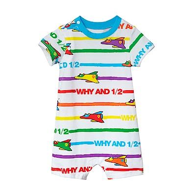 WHY AND 1/2 mini 條紋棉質萊卡連身衣短褲 0M~24M