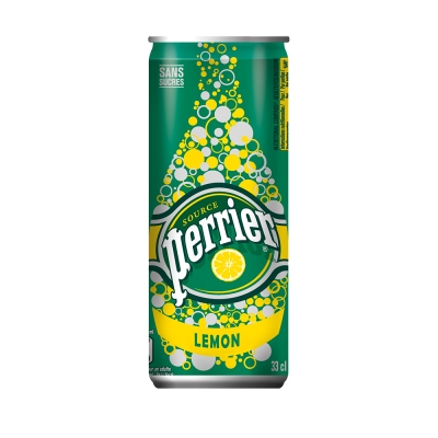 法國Perrier沛綠雅 氣泡天然礦泉水-檸檬口味(330mlx24入)