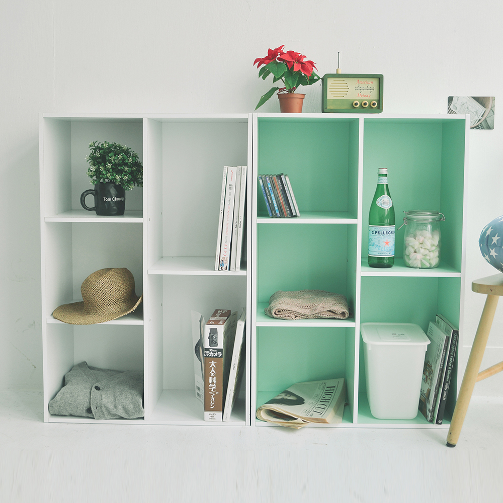 完美主義 五格書櫃/空櫃(6色)-60x30x90cm-DIY