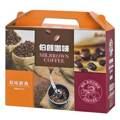 金車《MR.BROWN》伯朗咖啡禮盒 240ml (12罐)