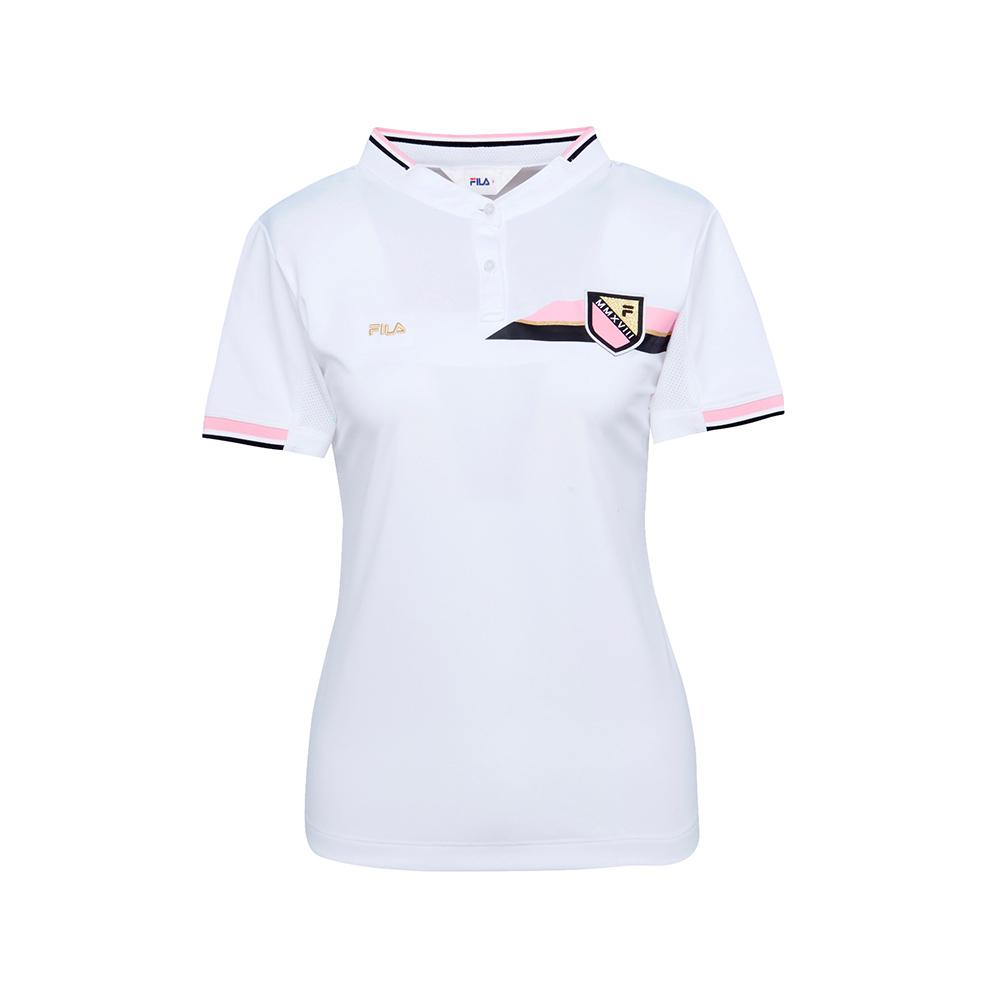 FILA 女抗UV吸濕排汗POLO衫-白 5POS-1505-WT