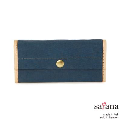 satana - 掀蓋式長夾 - 午夜藍