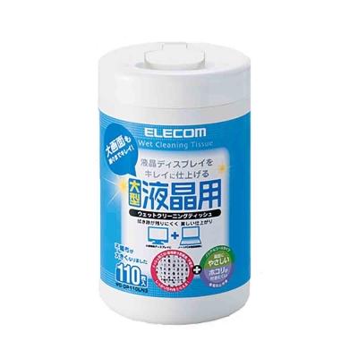 ELECOM 液晶螢幕擦拭巾(無酒精)-110P