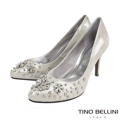 Tino-Bellini-浪漫耀眼花嫁新娘鞋-銀