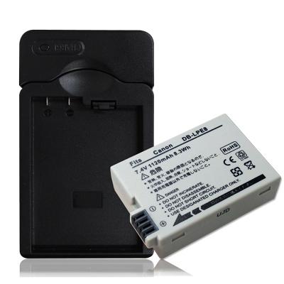 WELLY Canon LP-E8 / LPE8 認證版 防爆相機電池充電組