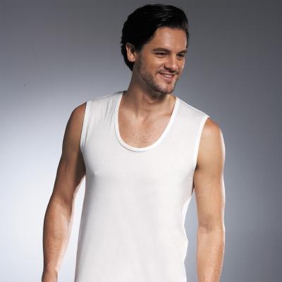 DADADO 基礎系列 PIMA棉 M-LL寬邊背心內衣(白)