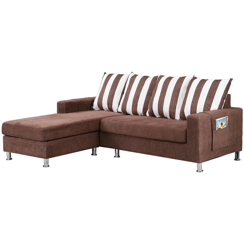 【COUCH】美式布朗尼L型獨立筒沙發組(二色選)