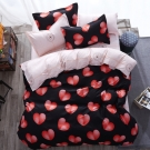 Alieen 個性印花 四件式被套床包組 加大 遇見愛