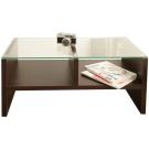 澄境 經典強化玻璃雙格收納茶几桌(90x45x41.5cm)-DIY