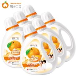 橘子工坊 天然濃縮洗衣精1800ml x6瓶-制菌力/箱