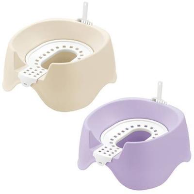 日本RICHELL 卡羅 圍片貓廁所 蹲式貓便盆