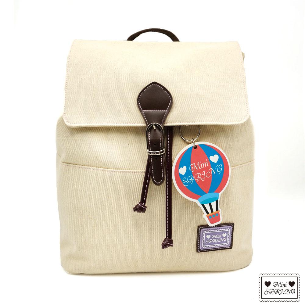 MINI SPRING-一起旅行吧熱氣球帆布後背包