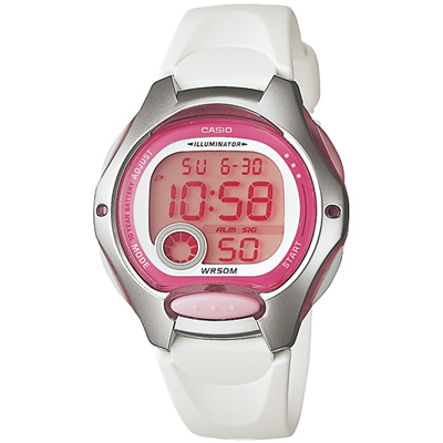 CASIO 超時空玩家電子錶(LW-200-7A)-白/34.9mm