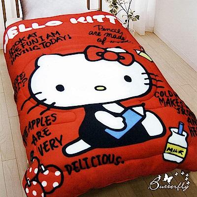 BUTTERFLY-Hello Kitty 搖粒絨刷毛暖暖被-我的筆記本
