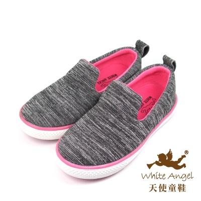 天使童鞋-KJH1629 悠活百搭懶人休閒鞋-桃