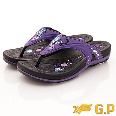 GP時尚涼拖-舞蝶夾腳拖鞋款-SE532W-41紫色(女段)
