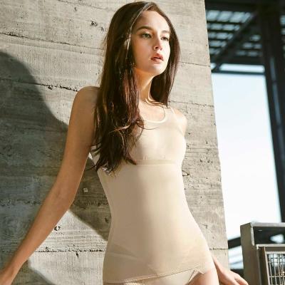 曼黛瑪璉-羽涼級‧輕鬆塑  中機能防胃凸背心(高雅膚)