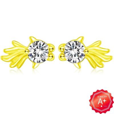 A+ 金魚黃金耳環