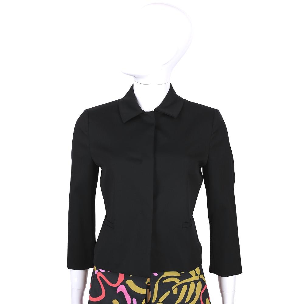 MARELLA 黑色素面七分袖西裝外套