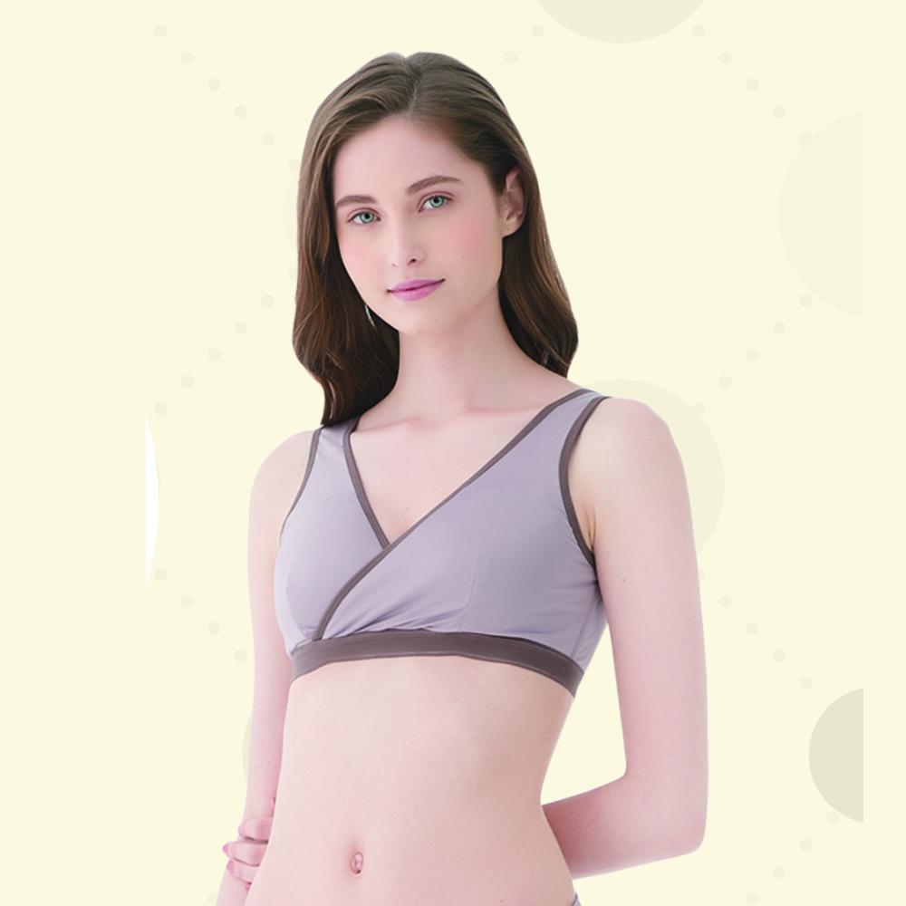 妮妮NiNi 無鋼絲哺乳休閒內衣(深紫)M-2L