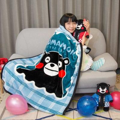 Kumamo熊本好友 頂級加厚法蘭絨休閒毯