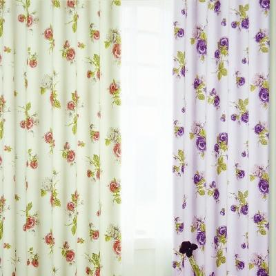 布安於室-薔薇穿管式單層遮光窗簾-落地窗
