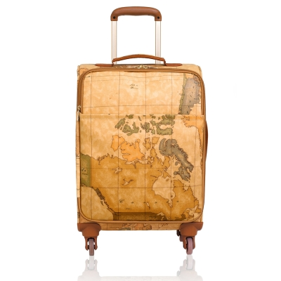 Alviero Martini 義大利地圖包 旅行商務休閒拉桿行李箱 55cm-地圖黃