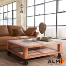 ALMI-VINTAGE-TABLE 附輪咖啡桌 - W100*D100*H41cm