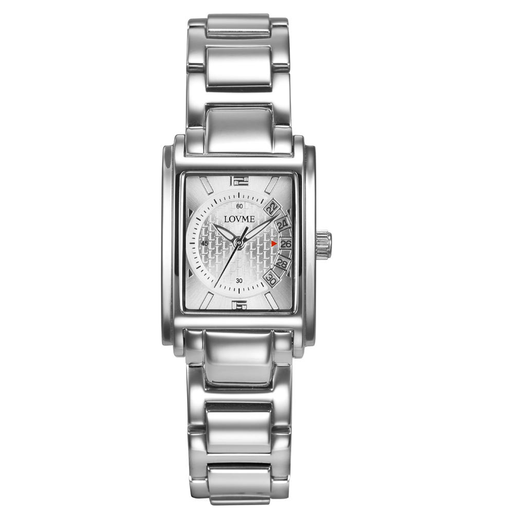 LOVME 旅行時光設計腕錶-銀色/23mm