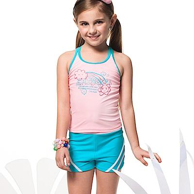 聖手牌兒童泳裝粉色兩件式女童泳裝