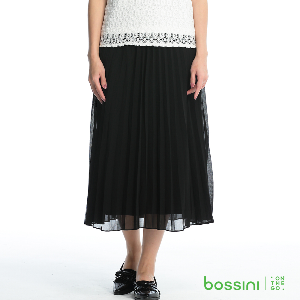 bossini女裝-百褶長裙01黑
