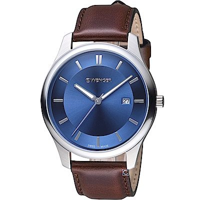 WENGER City系列 經典簡約紳士腕錶(01.1441.116)43mm