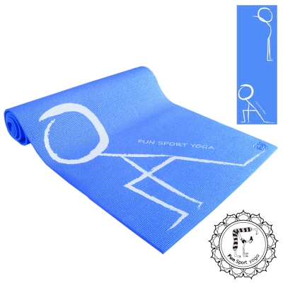 《Fun Sport》快樂操伸展瑜珈墊(藍)送立樂沛背袋+束帶(PER環保材質)