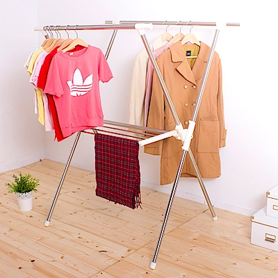 晴天媽咪 二代X型伸縮曬衣架/伸縮衣架/曬衣架