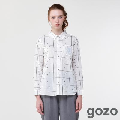 gozo創作宣言粉筆格子襯衫(二色)