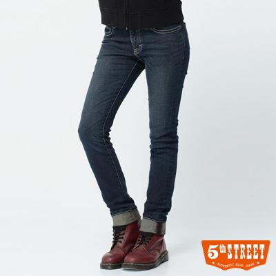 5th STREET 沉穩定番 1965伸縮窄直筒牛仔褲-女款(中古藍)