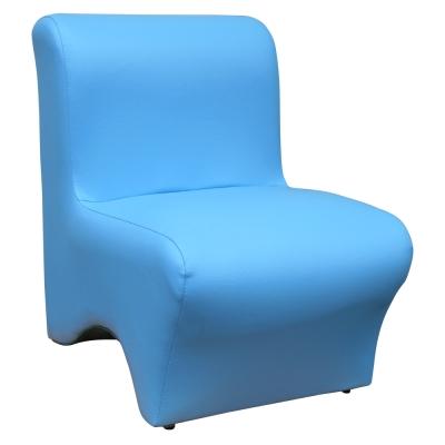 【Mr. chair】時尚美型-單人小沙發 (水藍)